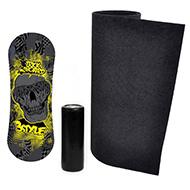 Trickboard Black Skull  + dywan