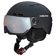 Kask z przyłbicą szybą HEAD Knight Black 2021