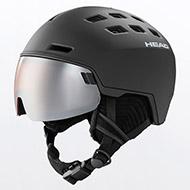 Kask z przyłbicą szybą HEAD Radar Black + dodatkowa soczewka 2021