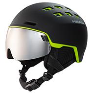 Kask z przyłbicą szybą HEAD Radar Black Lime 2021