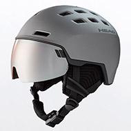Kask z przyłbicą szybą HEAD Radar Graphite Black 2021