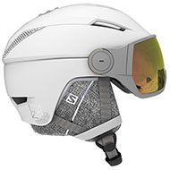 Kask z przyłbicą szybą SALOMON ICON2 VISOR PHOTO White/AW Red 2021