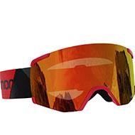 Gogle Salomon S/VIEW Black Red/Uni Mid Red L41152700 2021