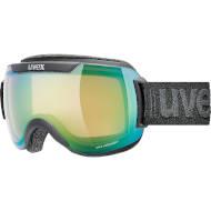 Gogle UVEX Downhill 2000 V Black Mat Green (2130) Fotochrom 2021