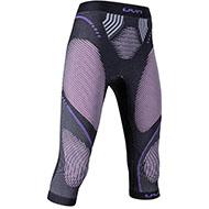 Damskie spodnie termoaktywne 3/4 UYN Evolutyon Melange/Raspberry/Purple 2021