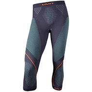 Męskie spodnie termoaktywne UYN 3/4 Evolution UW charcoal/green/orange 2021