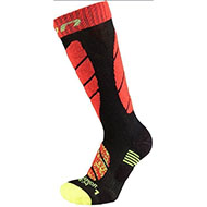 Skarpety UYN Junior ski socks Black Red 2021 B102