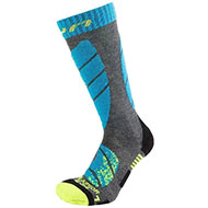 Skarpety UYN Junior ski socks medium grey melange turquoise 2021 G768
