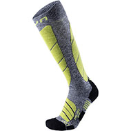 Skarpety UYN Man Ski Pro Race Grey Melange / Green Lime G730 2021