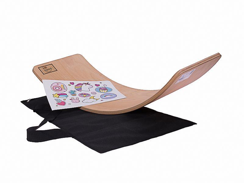 Deska do balansowania dla dzieci KidiBoard Balance Board + pokrowiec + naklejki dla dziewczynki