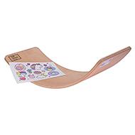 Deska do balansowania dla dzieci KidiBoard Balance Board + naklejki dla dziewczynki
