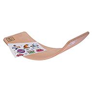 Deska do balansowania dla dzieci KidiBoard Balance Board + naklejki dla chłopca