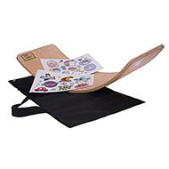 Deska do balansowania dla dzieci KidiBoard Balance Board + pokrowiec + naklejki dla chłopca i dziewczynki