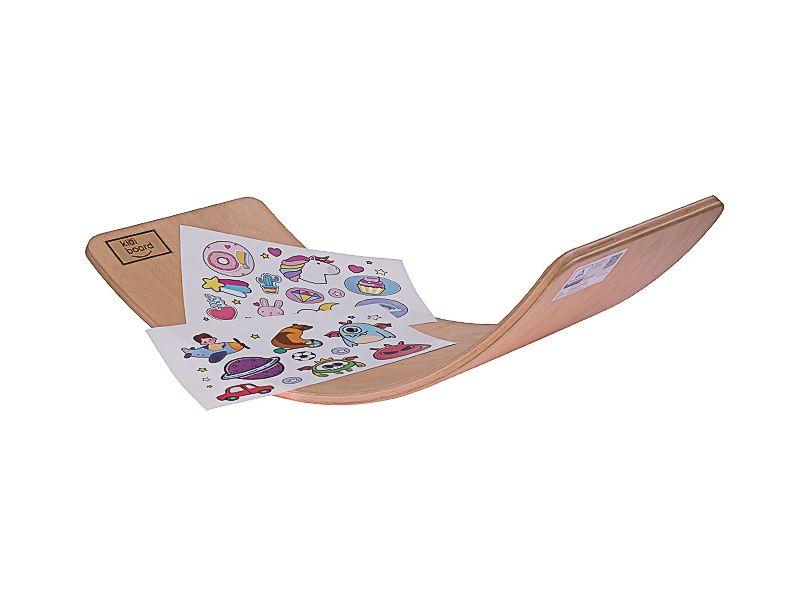 Deska do balansowania dla dzieci KidiBoard Balance Board + naklejki dla chłopca i dziewczynki