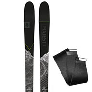 Narty Majesty Superscout Carbon + Foki Majesty Hybrid Skins Omicron 2021
