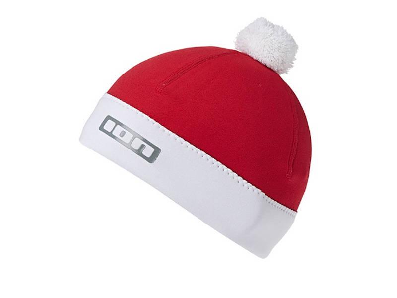 Image of Czapka neoprenowa 2,5mm do morsowania ION Neo Bommel Beanie Red White