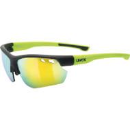 Okulary Uvex Sportstyle 115 Black mat Yellow 2616 2021