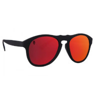 Okulary Przeciwsłoneczne Majesty Crux Black Mat / Red ruby Polarized 2021
