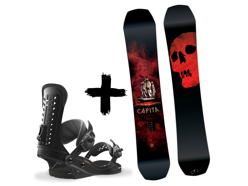 Black Zestaw Death Str The Snowboard UNION of Black + wiązania Capita 2018