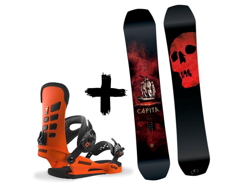 Zestaw UNION 2018 + The Capita Death of Snowboard Orange Str wiązania Black