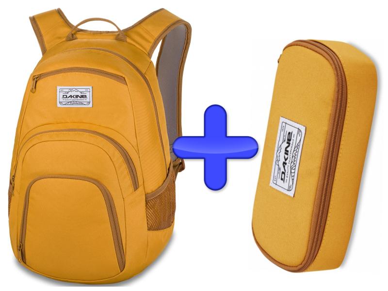 Plecak Zestaw Piórnik Dakine Mineral Campus F/W 2019 + 25l Yellow