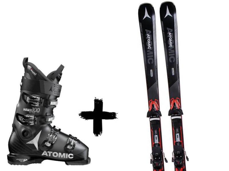 12 Atomic Atomic wiązania ULTRA X + Black/Anthracite + Narty Buty Zestaw VANTAGE 75 GW CTI FT 100 2019 HAWX