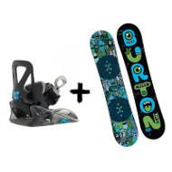 Zestaw Burton Kids Deska Chopper + Wiązania Grom Black 2020