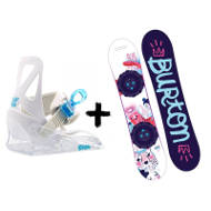 Zestaw Burton Kids Deska Chicklet + Wiązania Grom White 2020