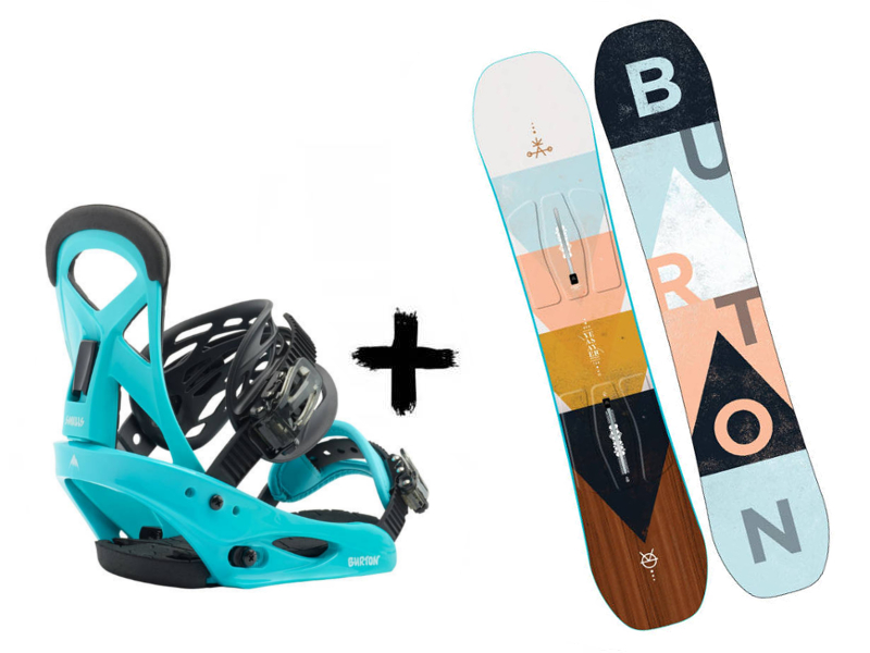 Smalls Blue Deska + Kids Zestaw Surf Burton Wiązania Yeasayer 2020