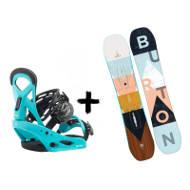 Zestaw Burton Deska Yeasayer Smalls + Wiązania Kids Surf Blue 2020