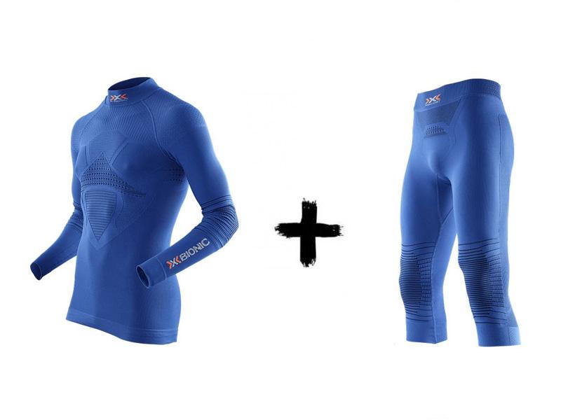 golfem EVO Zestaw Spodnie Koszulka Denim z Energizer A697 + Man X-Bionic 2019 Blue termoaktywny