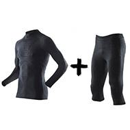 Zestaw termoaktywny Koszulka z golfem + Spodnie X-Bionic Energy Accumulator EVO Man B026 Black 2019