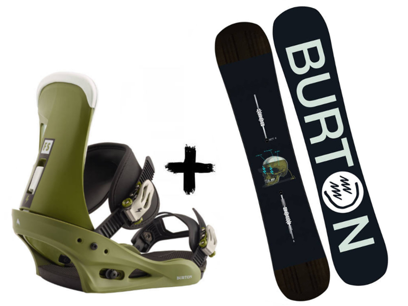 Re:Flex™ Green Deska On Wiązania Instigator Freestyle Burton + Zestaw Comp 2020