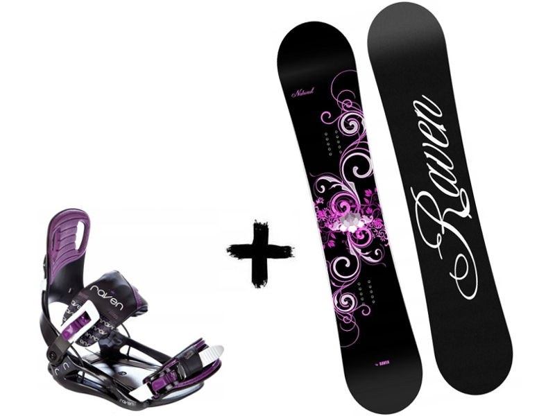 Natural Zestaw + Deska Wiązania 2020 Starlet Raven Black/Violet