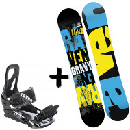 Zestaw Raven Deska Gravy Junior + Wiązania S200 Black 2020