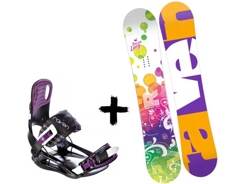 2020 Wiązania Deska Junior Lucy Zestaw Black/Violet + Raven Starlet