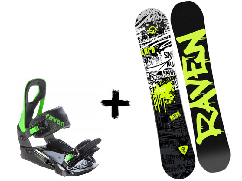 Core Junior Deska Zestaw Raven + Green Wiązania S200 2020