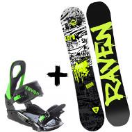 Zestaw Raven Deska Core Junior + Wiązania S200 Green 2020
