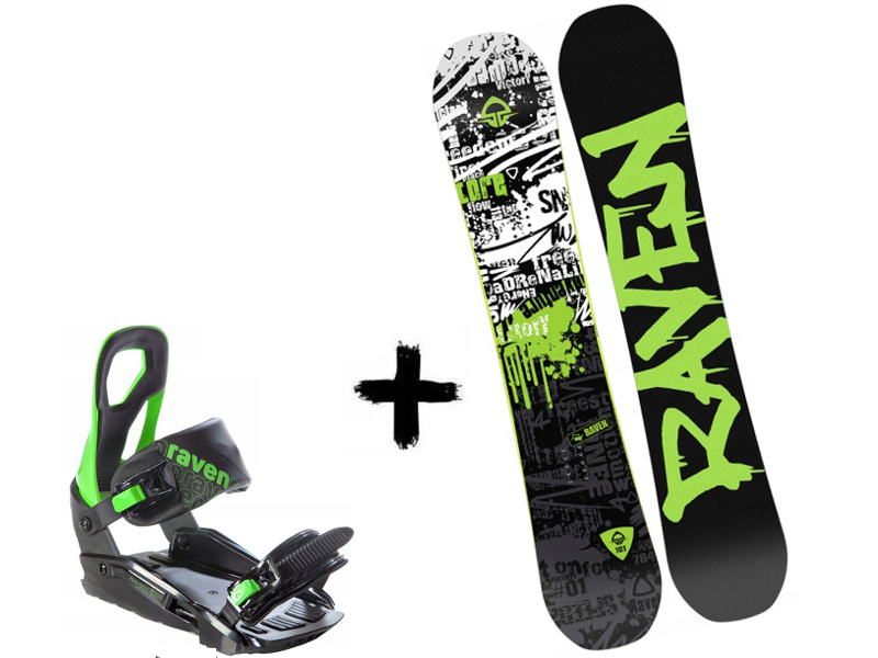 Deska Raven Core Green Zestaw S200 Wiązania + 2020
