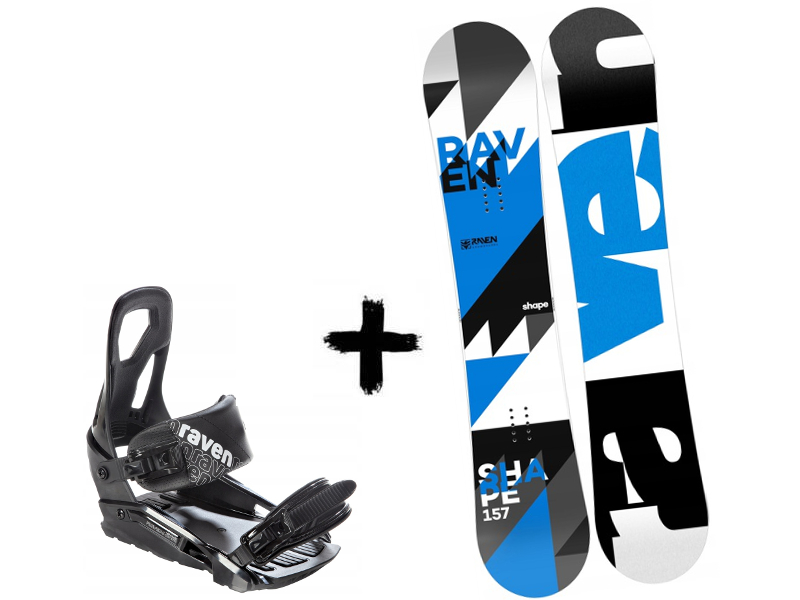 Deska + Black Shape Zestaw S200 2020 Wiązania Raven