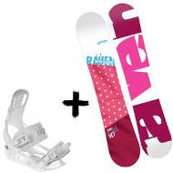 Zestaw Raven Deska Style Pink + Wiązania Luna White 2020