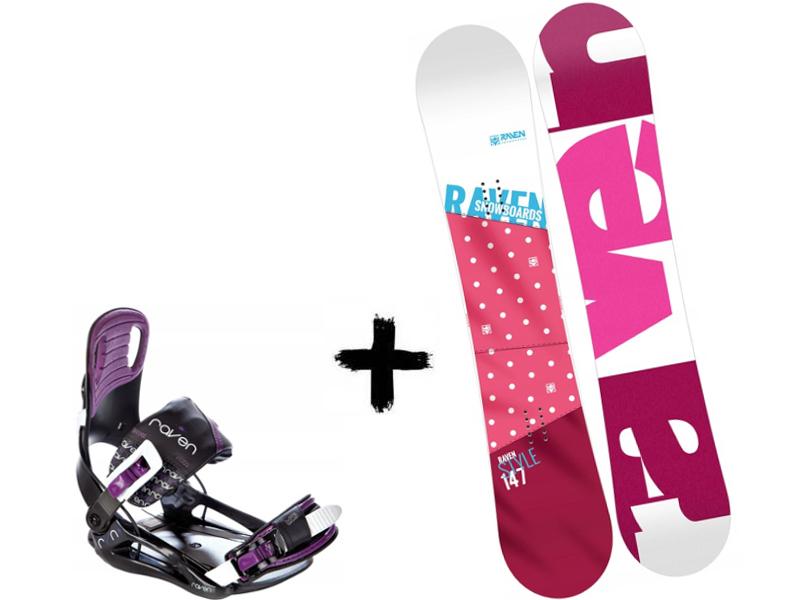Style Wiązania Black/Violet 2020 Zestaw Raven Deska + Pink Starlet