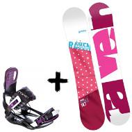 Zestaw Raven Deska Style Pink + Wiązania Starlet Black/Violet 2020
