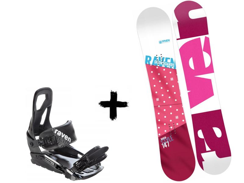 + 2020 Zestaw Deska Pink Raven Black Style S200 Wiązania
