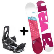 Zestaw Raven Deska Style Pink + Wiązania S200 Black 2020