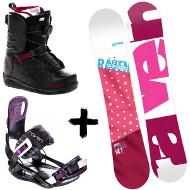 Zestaw Raven deska Style Pink + wiązania Starlet Black/Violet + buty Northwave Helix Spin 2020