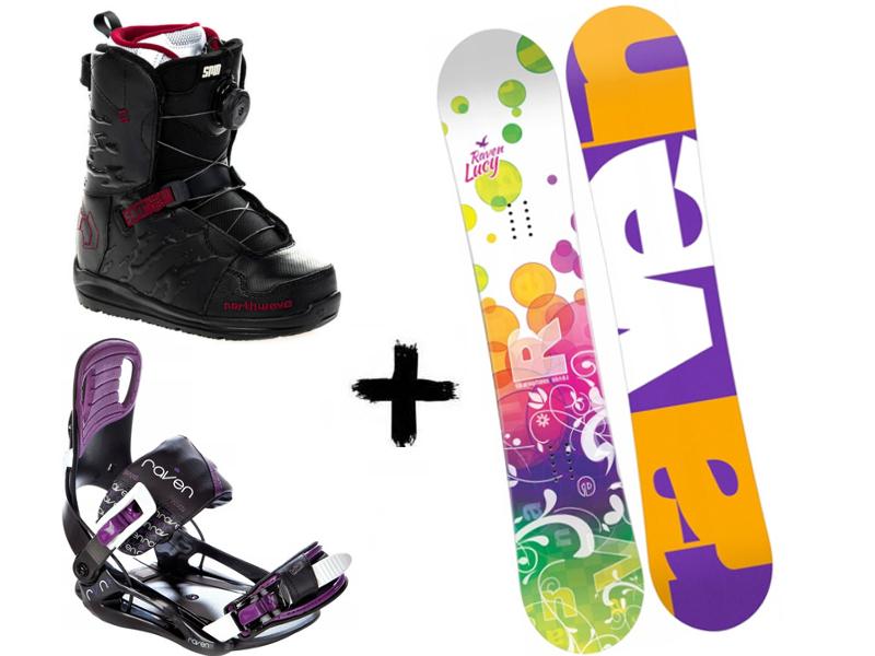 Raven Helix Spin 2020 Starlet Lucy Black/Violet Northwave + + Zestaw wiązania buty deska