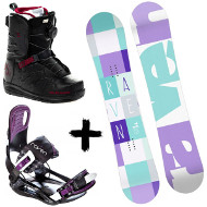 Zestaw Raven deska Laura + wiązania Starlet Black/Violet + buty Northwave Helix Spin 2020