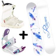 Zestaw Raven deska Mia White + wiązania Starlet White/Blue/Violet + buty Northwave Opal SL White 2020