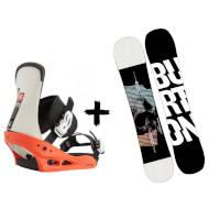 Zestaw Burton Deska Instigator + Wiązania Freestyle White Black 2021